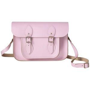 THE CAMBRIDGE SATCHEL COMPANY Pink Leather Satchel Bag Purse